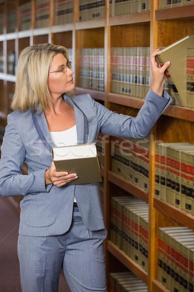弁護士 ピッキング 図書 法 ライブラリ 大学 ストックフォト © wavebreak_media