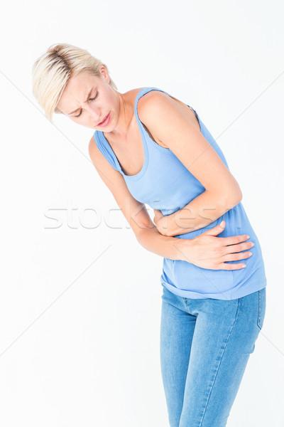 Toevallig vrouw maag pijn witte lichaam Stockfoto © wavebreak_media