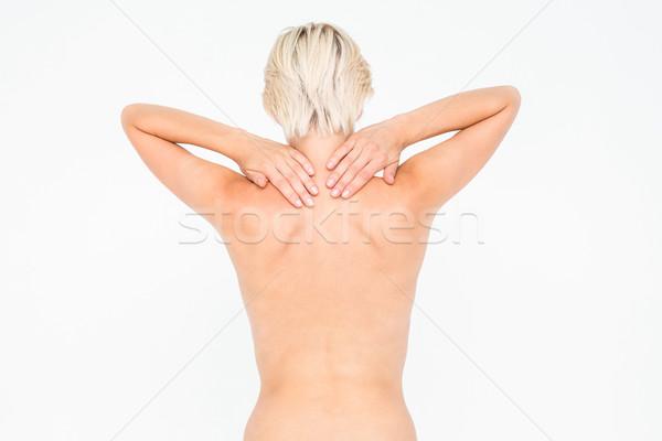 魅力のある女性 首の痛み 白 女性 かなり ストックフォト © wavebreak_media