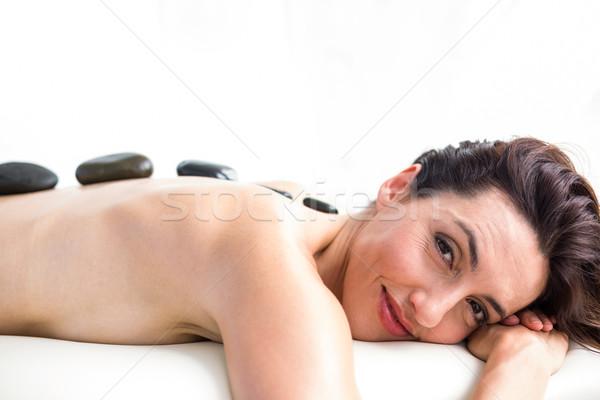 Sorridere bruna caldo pietra massaggio sani Foto d'archivio © wavebreak_media
