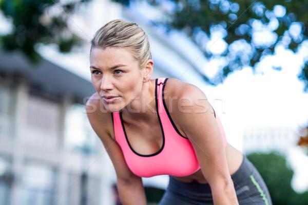 Mooie atleet stad gezondheid Stockfoto © wavebreak_media