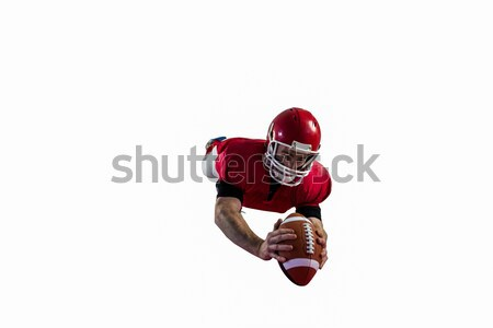 American football player catching football Stock photo © wavebreak_media