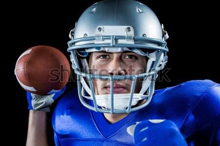 Határozott amerikai futballista áll digitálisan összetett Stock fotó © wavebreak_media