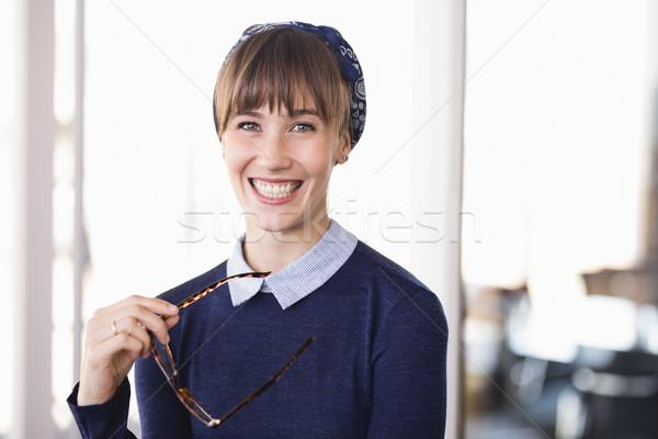 Portrait of cheerful businesswoman in office Stock photo © wavebreak_media