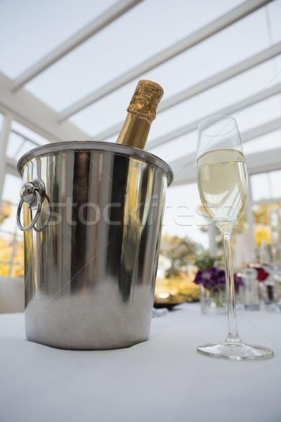Ver garrafa balde copo de vinho champanhe Foto stock © wavebreak_media