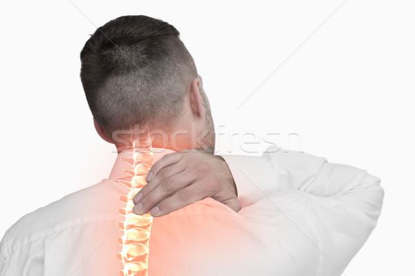 Compuesto digital espina hombre dolor de espalda blanco equipo Foto stock © wavebreak_media
