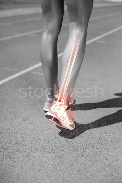 Düşük bölüm kadın atlet yürüyüş izlemek Stok fotoğraf © wavebreak_media
