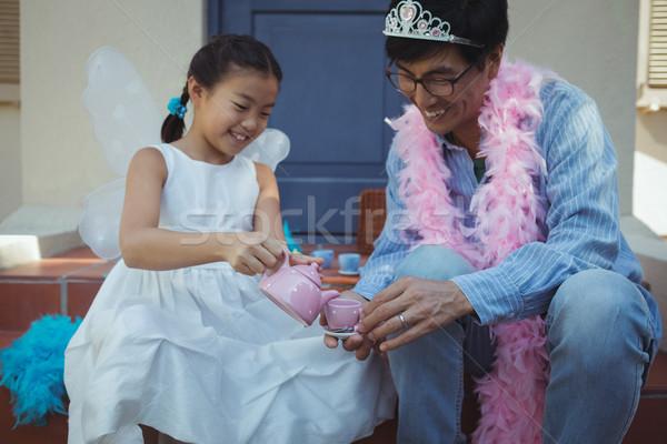 Padre figlia fata costume tè party Foto d'archivio © wavebreak_media