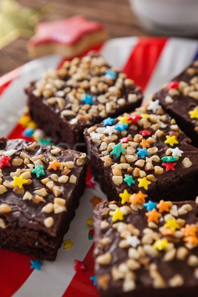 Serwowane tablicy żywności Zdjęcia stock © wavebreak_media