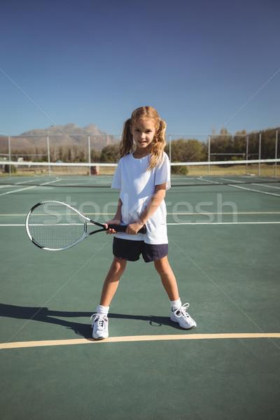 портрет девушки играет теннис теннисный корт Сток-фото © wavebreak_media
