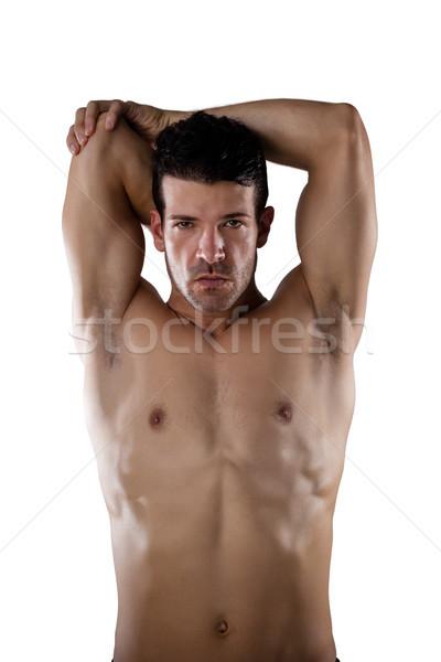 Portre gömleksiz spor kişi eller Stok fotoğraf © wavebreak_media