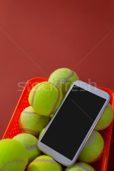 мнение смартфон теннис корзины Сток-фото © wavebreak_media