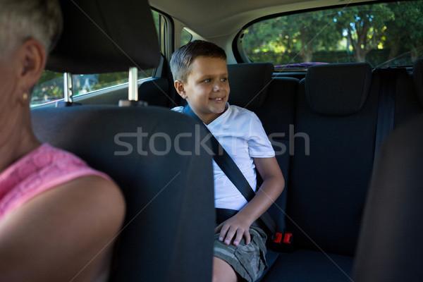 Grand-mère conduite voiture petit-fils séance Retour Photo stock © wavebreak_media