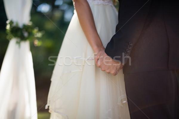 Casal de mãos dadas parque amor homem Foto stock © wavebreak_media