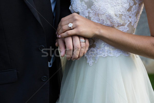 свадьба пару , держась за руки женщину невеста брак Сток-фото © wavebreak_media