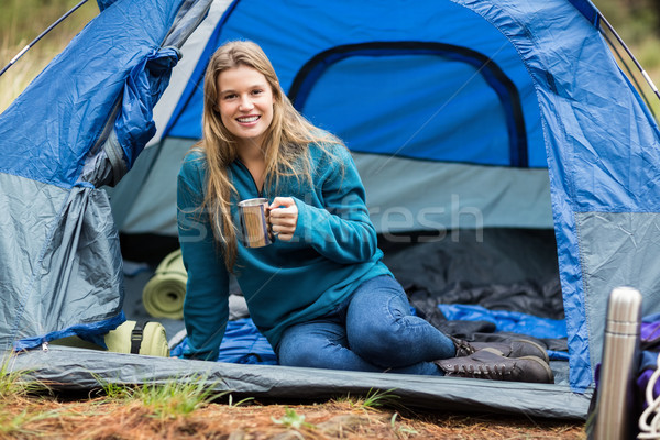 肖像 小さな かなり ハイカー テント 自然 ストックフォト © wavebreak_media