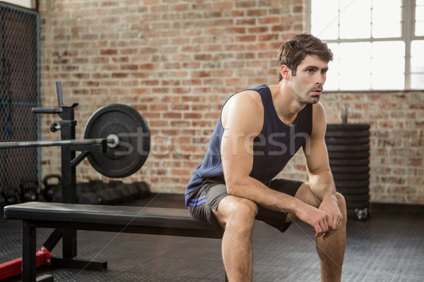 Man sitting on the bench Stock photo © wavebreak_media