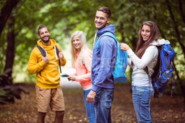 Happy friends on hike together Stock photo © wavebreak_media