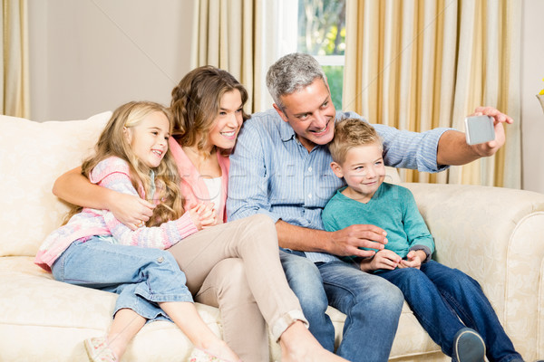 Stockfoto: Familie · sofa · cute · woonkamer · man