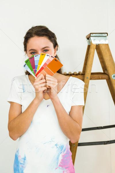 girl showing color samples Stock photo © wavebreak_media