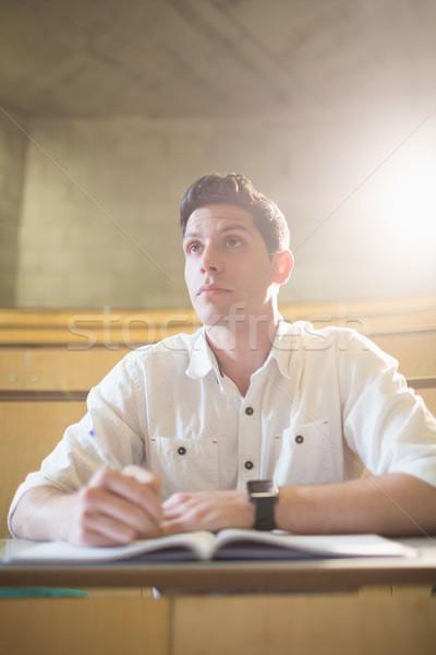 концентрированный мужчины студент класс лекция зале Сток-фото © wavebreak_media