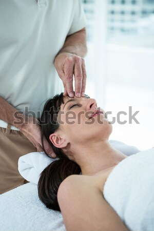 Terhes nő masszázs masszőr arc gyógyfürdő nő Stock fotó © wavebreak_media