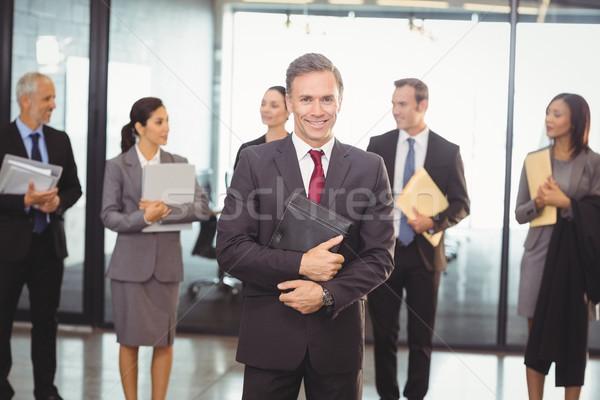 Business team with document and organizer Stock photo © wavebreak_media