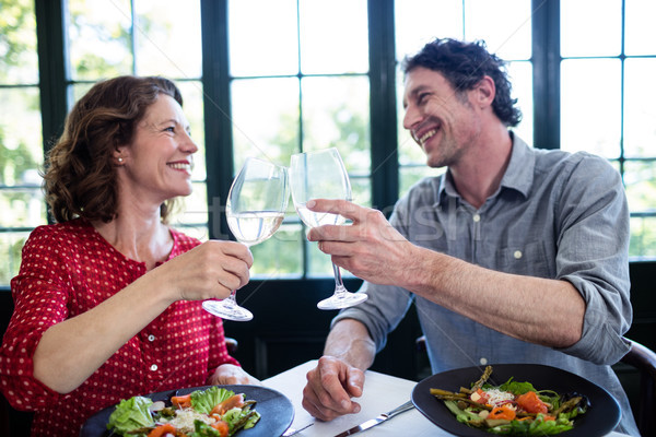 счастливым пару шампанского флейты Сток-фото © wavebreak_media