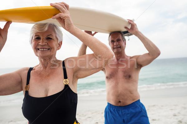 доска для серфинга голову портрет пляж Сток-фото © wavebreak_media