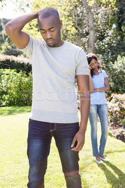 Young couple after having fight ignoring each other Stock photo © wavebreak_media