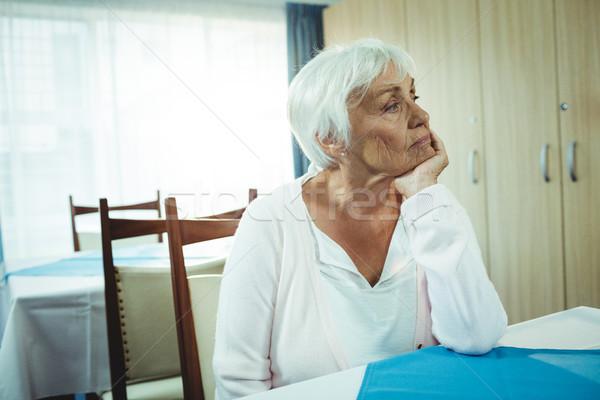 Thoughtful senior woman Stock photo © wavebreak_media