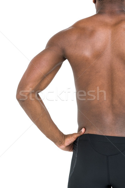 Mid-section of swimmer on white background Stock photo © wavebreak_media