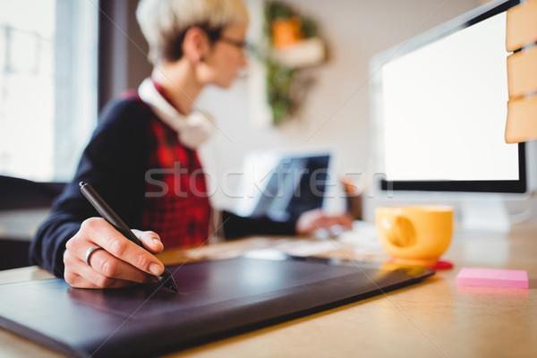 графических дизайнера графика таблетка женщины служба Сток-фото © wavebreak_media