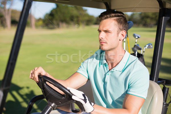 молодым человеком сидят гольф человека весело вождения Сток-фото © wavebreak_media