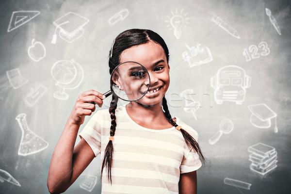 összetett kép oktatás firkák boldog gyermek Stock fotó © wavebreak_media