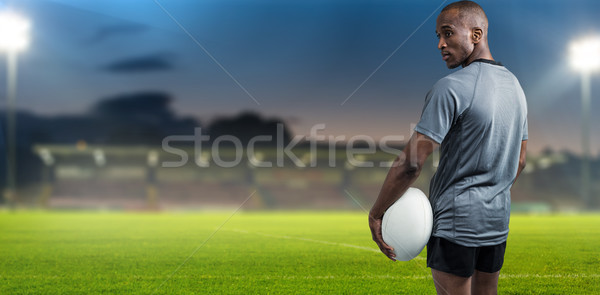 Imagen atleta pie pelota de rugby Foto stock © wavebreak_media