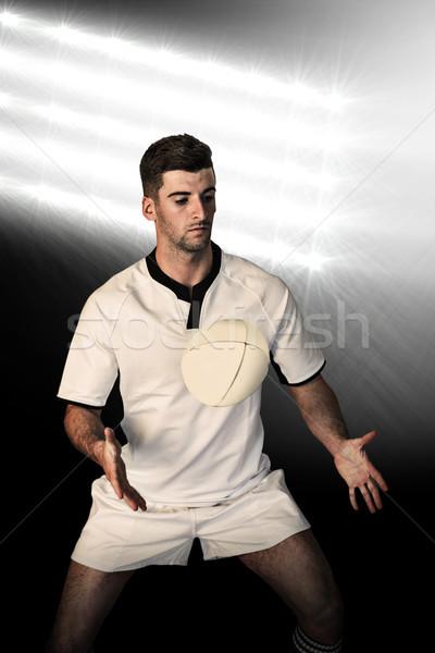 Afbeelding rugby speler positie Stockfoto © wavebreak_media
