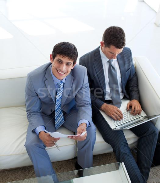 Empresários espera entrevista de emprego escritório negócio moda Foto stock © wavebreak_media