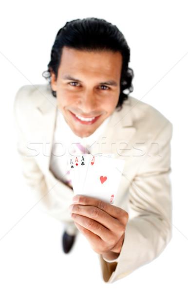 Successful businessman holding all the aces  Stock photo © wavebreak_media