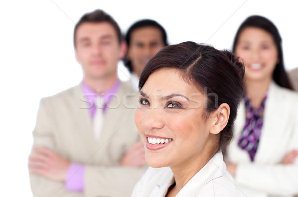 Bruna femminile executive squadra bianco Foto d'archivio © wavebreak_media