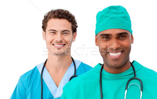 Diverso médicos equipo pie blanco Foto stock © wavebreak_media