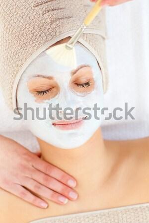 Portret vrouw spa-behandeling gezondheid centrum vrouwen Stockfoto © wavebreak_media
