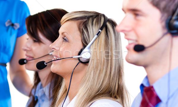 команда люди говорили люди, работающие Call Center улыбка человека Сток-фото © wavebreak_media