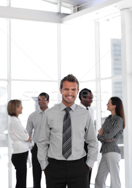 Stockfoto: Portret · knap · mannelijke · leider · team · business