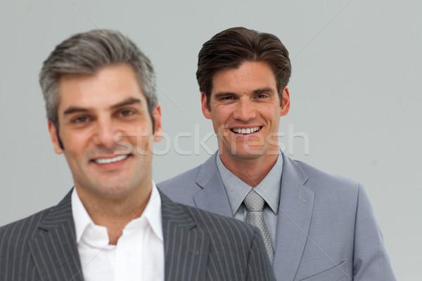 Two businessman standing in a line  Stock photo © wavebreak_media