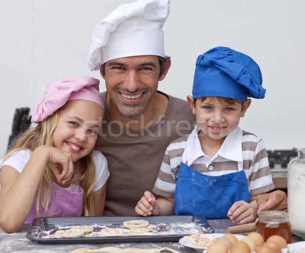 幸せ 父 子供 クッキー 一緒に ストックフォト © wavebreak_media