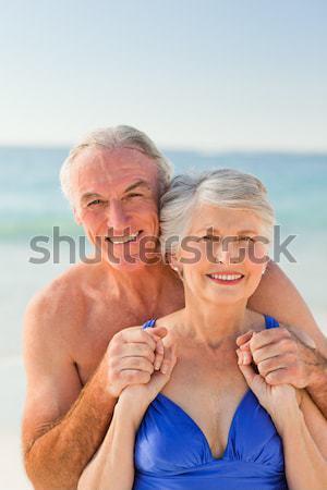 çift fotoğraf plaj kadın kız Stok fotoğraf © wavebreak_media