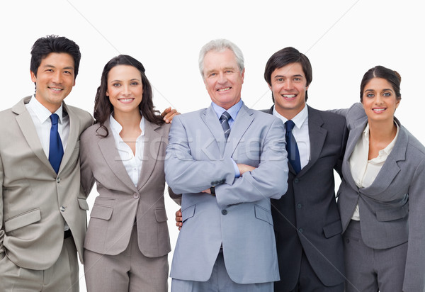 Successful senior businessman with his team against a white background Stock photo © wavebreak_media