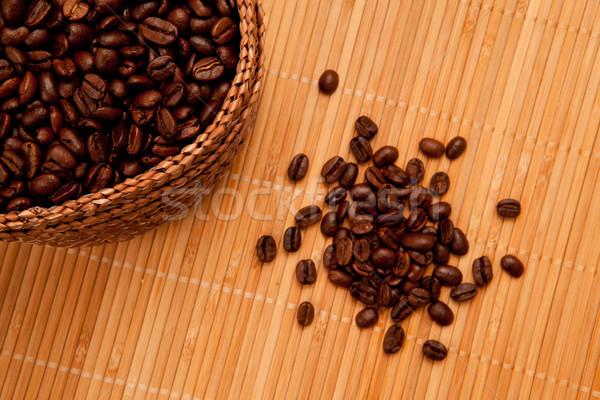 Tohumları sepet tok kahve Stok fotoğraf © wavebreak_media