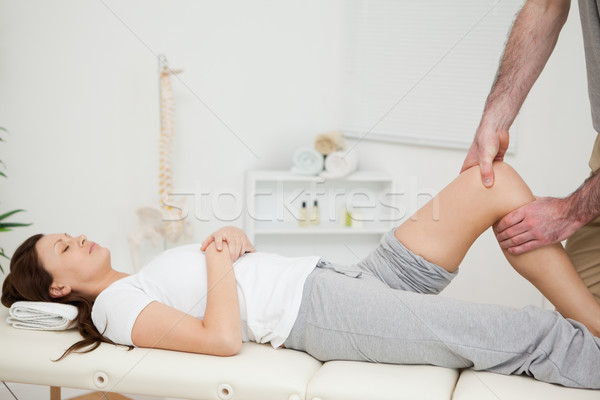 Pacífico morena mulher manipulado médico quarto Foto stock © wavebreak_media